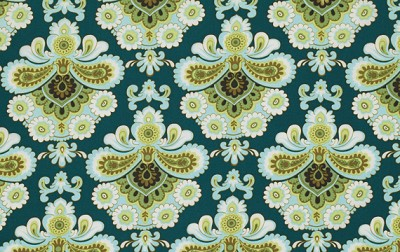 Belle PWAB111 Spruce French Wallpaper by Amy Butler
