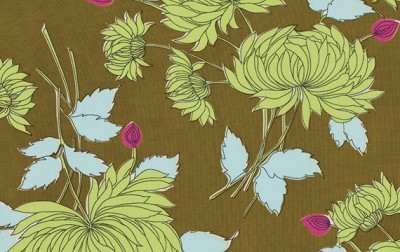Belle PWAB115 Olive Chrysanthemum by Amy Butler EOB