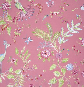 Chinoiserie Chic PWDF193 Pink Birdsong by Free Spirit