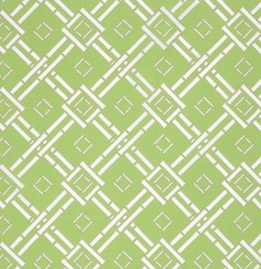 Chinoiserie Chic PWDF197 Green Espalier by Free Spirit