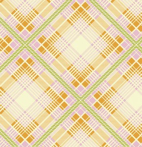 Up Parasol PWHB049 Tangerine Summer Plaid by Free Spirit