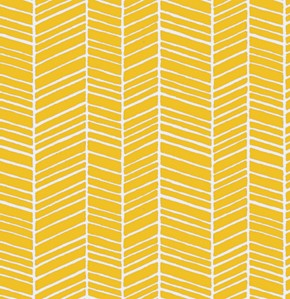 True Colors PWTC007 Yellow Herringbone by Free Spirit