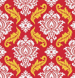 True Colors PWTC009 Red Damask by Joel Dewberry for Free Spirit