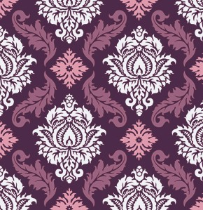 True Colors PWTC009 Violet Damask by Joel Dewberry for Free Spirit