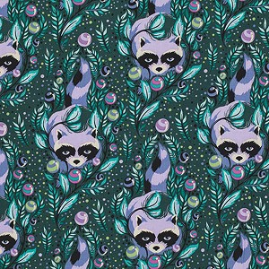 Acacia PWTP037 Blueberry Raccoon by Tula Pink for Free Spirit