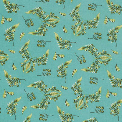Acacia PWTP039 Teal Butterfly Wings by Tula Pink for Free Spirit