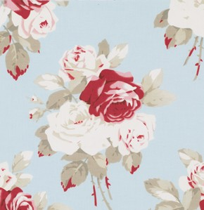 Petal PWTW055 Blue Lg Antique Roses by Tanya Whelan for Free Spirit
