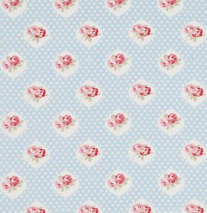 Petal PWTW059 Blue Sweetie Rose by Tanya Whelan for Free Spirit