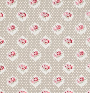 Petal PWTW059 Taupe Sweetie Rose by Tanya Whelan for Free Spirit EOB