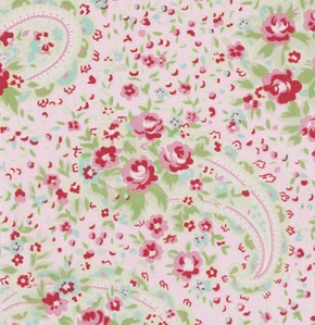 Rosey PWTW063 Pink Paisley Rose by Tanya Whelan for Free Spirit