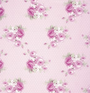 Slipper Roses PWTW089 Pink Dottie Rose by Free Spirit