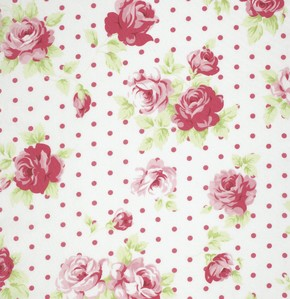 Lulu Roses PWTW093 White Lilly by Tanya Whelan for Free Spirit