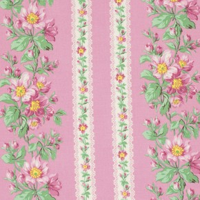 Snapshot  PWVM115 Blush Bloom Border Stripe by Free Spirit