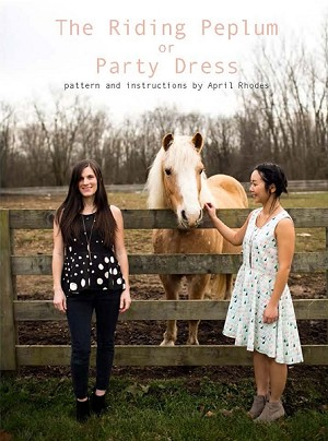 The Riding Peplum and Party Dress Pattern by April Rhodes