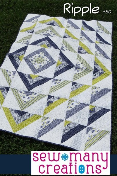 Ripple Quilt Pattern by Sew Many Creations