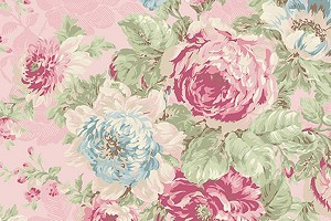 RURU Bouquet RU2200-11B Pink Large Floral by Quilt Gate