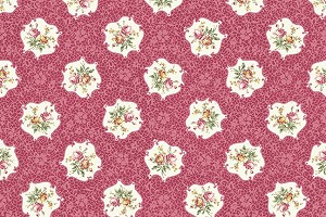 RURU Bouquet RU2200-15E Rose Medallions by Quilt Gate