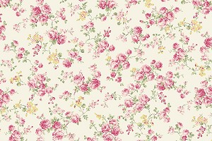 RURU Bouquet RU2200-17A Ecru Medium Floral by Quilt Gate