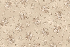 RURU Bouquet RU2200-20A Ecru Tonal Small Floral by Quilt Gate