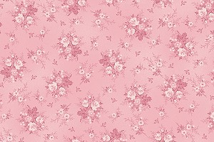 RURU Bouquet RU2200-20B Pink Tonal Small Floral by Quilt Gate