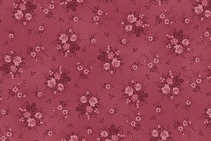 RURU Bouquet RU2200-20E Rose Tonal Small Floral by Quilt Gate