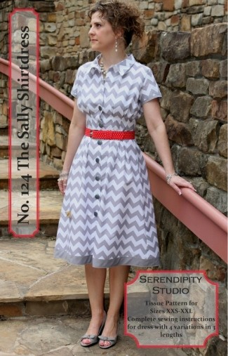 The Sally Shirtdress Pattern by Serendipity Studio