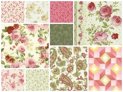 Sarah's Collection 10 Fat Quarter Set by Red Rooster