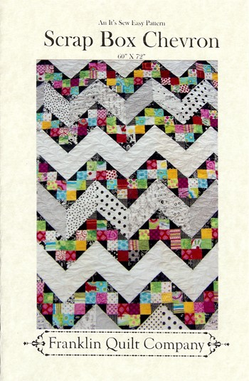 Scrap Box Chevron Quilt Pattern by Franklin Quilt Company