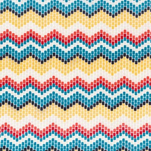 Enchanted Organic Seed Bead Chevron by Cloud 9