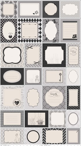 Sew Labels 2 C2501 Gray by Riley Blake