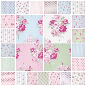 Slipper Roses 25 Fat Quarter Set by Tanya Whelan for Free Spirit
