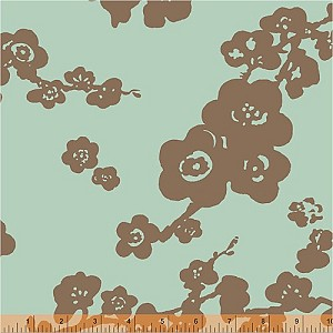 Spa 31400-3 Aqua Brown Floral by Windham EOB