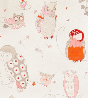 Spotted Owl 6974-G Oyster/Pink by Alexander Henry