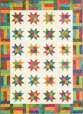 Stars and Strips Quilt Pattern by Atkinson Designs