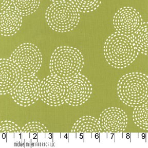 Stitch Circle CX5946 Olive by Michael Miller