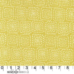 Stitch Square CX5944 Mustard by Michael Miller