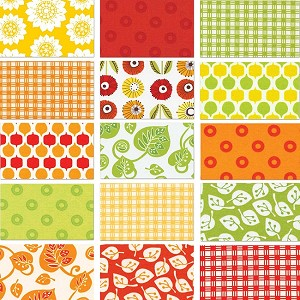 Summerhome 15 Fat Quarter Set by Kathy McGee for Red Rooster