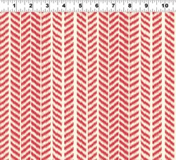 Summerland Y1471-4 Red Herringbone by Clothworks