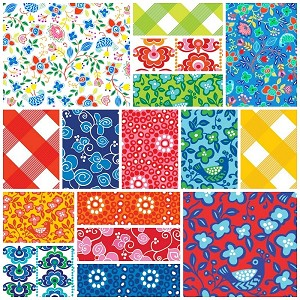 Sundborn Garden 16 Fat Quarter Set by Red Rooster