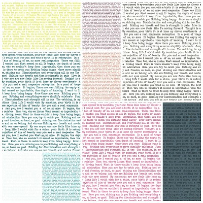 Sun Print Text 9 Fat Quarter Set by Alison Glass for Andover