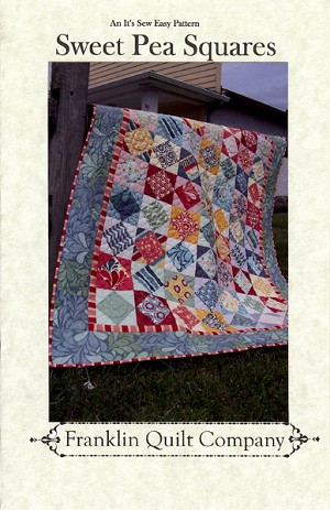 Sweet Pea Squares Quilt Pattern by Franklin Quilt Company
