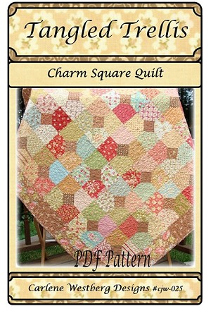 Tangled Trellis Quilt Pattern by Carlene Westberg Designs