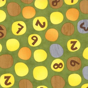Ten Little Things 30503-17 Lime Counting Dots by Moda