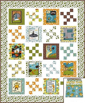The Lorax - Speak for the Trees Organic Quilt Kit Earth - Dr. Seuss