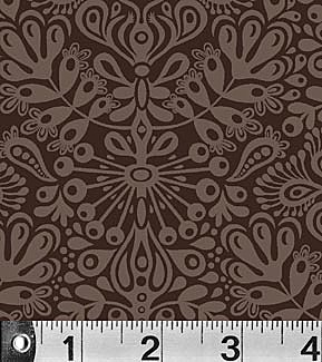 Toomuchery 881 Z Brown Damask by EOB .22 yd