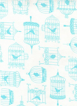 Tweet C9243 White Bird Cages by Timeless Treasures