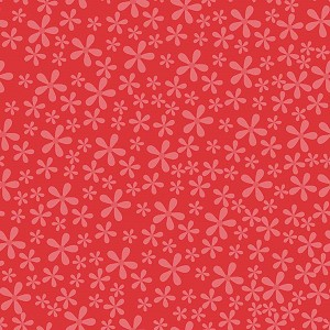 Twice as Nice C3526 Red Blooms by The Quilted Fish for Riley Blake