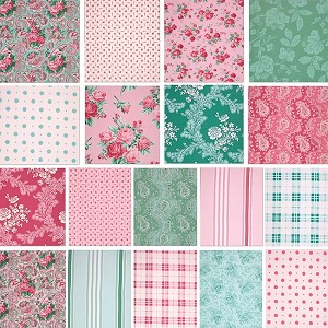 Veranda 18 Fat Quarter Set by Verna Mosquera for Free Spirit