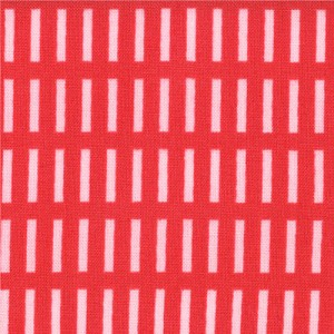 A Walk in the Woods 18526-14 Poppy Whisper Dash Stripe by Moda