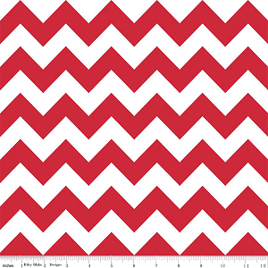 "Medium Chevron Wideback 108"" WB320-80 Red by Riley Blake"